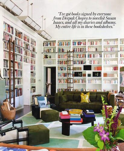 diane-von furstenburg-library blue shelves