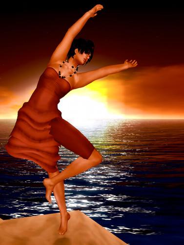 dances on the sand