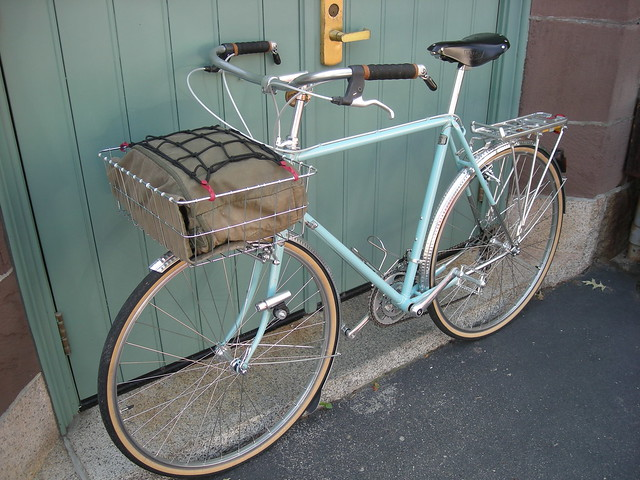 From Randonneur to Citaden:  Conversion of a touring bike to city kid and cargo hauler