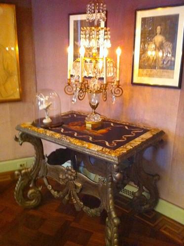 Hwood candelabra