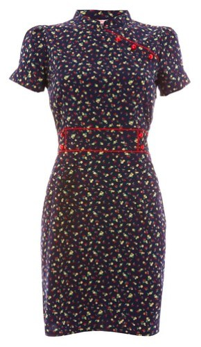 089 - Oriental Dress - Navy Cherry