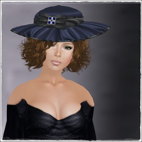 Hatpins - Lady Lavinia Sapphire - LOW