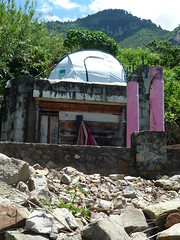 Wohnen in Zelten und Ruinen nach Hurrican Stan (2005), Lago Atitlan
