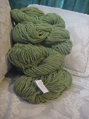 7 hanks peapod dorset worsted wool