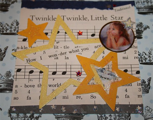"Twinkle, twinkle 4"" x 4"" Collage"