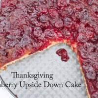 Thanksgiving Cranberry Upside Down Cake