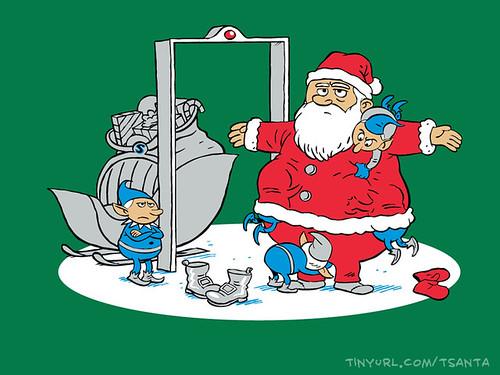 TSAnta Claus on shirt.woot