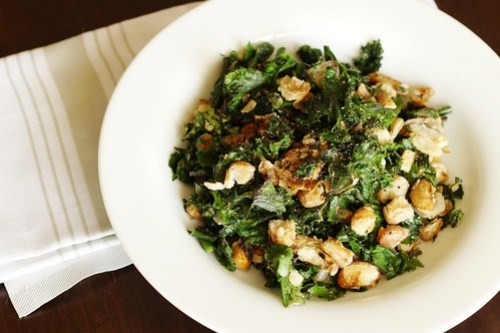 crisp and creamy beans with greens