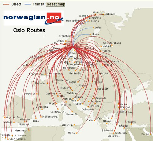 Norwegian Oslo Routes