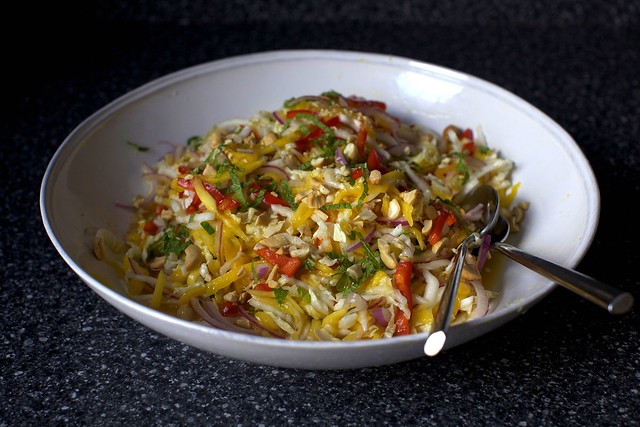 mango slaw with mint and cashews