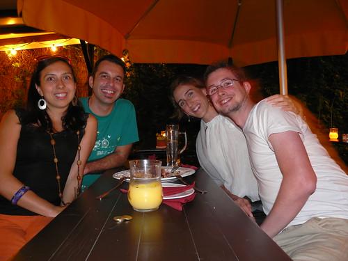Cena con Elisa y Fernando