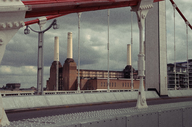A postcard of Battersea Power Station