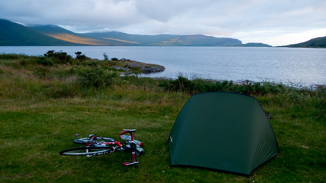 Bike and tent at Killiechronan