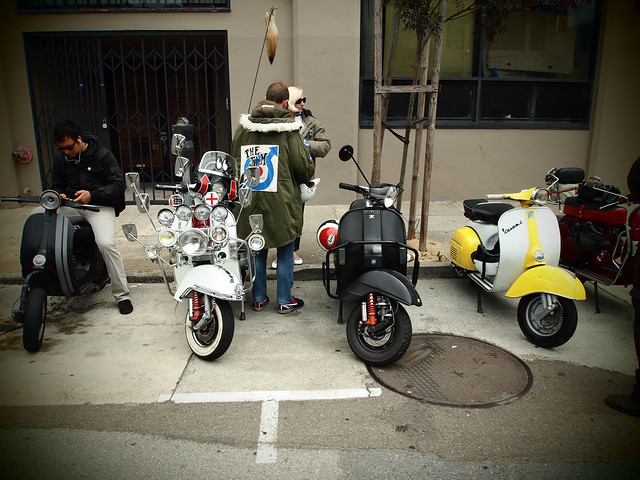 Vintage scoots in S.F.