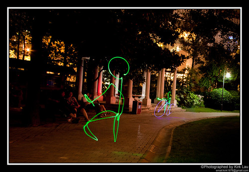[FlickrMeet] Light painting: Bike chase