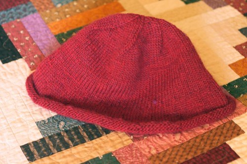 Aunt Susan's hat on bed