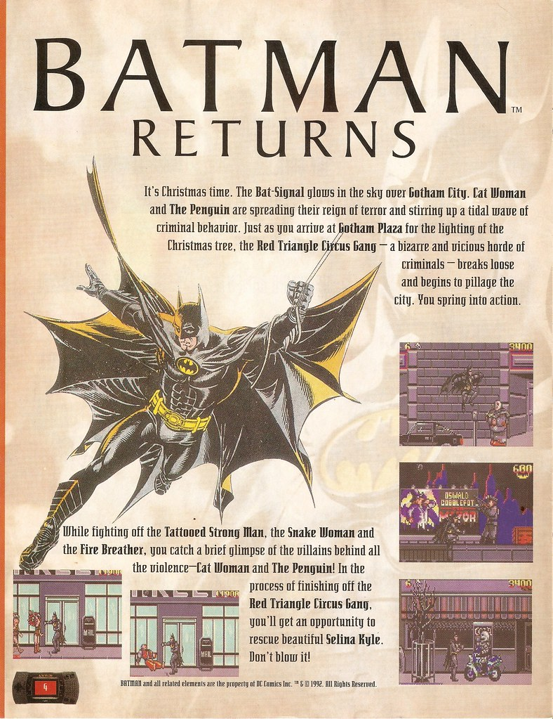 Atari Lynx Batman Returns