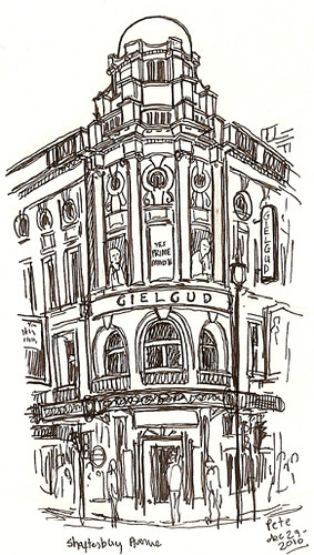 gielgud theatre, shaftesbury avenue
