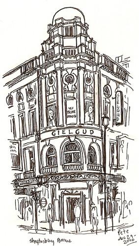 gielgud theatre, shaftesbury avenue