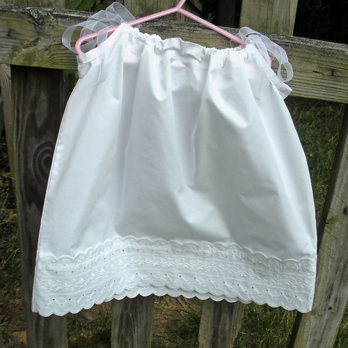pillowcase dress white