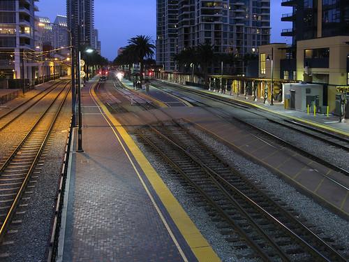 Santa Fe Railroad Terminal in San Diego