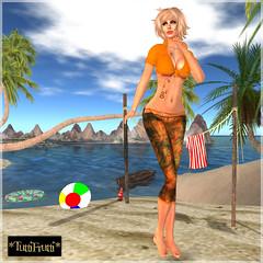 _TuttiFrutti_ Beach Days - Tangerine