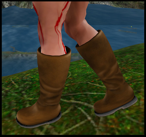 male barbarian - boots detail