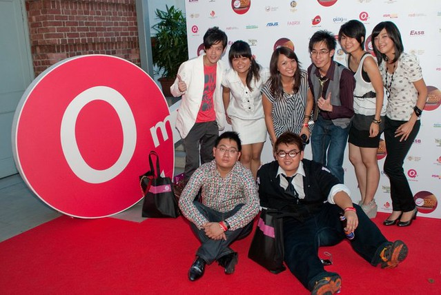 Me with some of the young bloggers who attended the event
