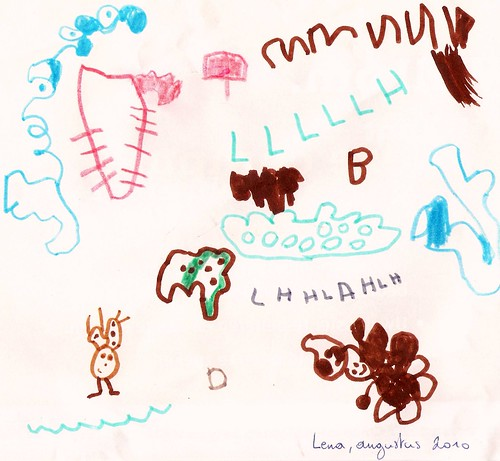 een tekening van Lena