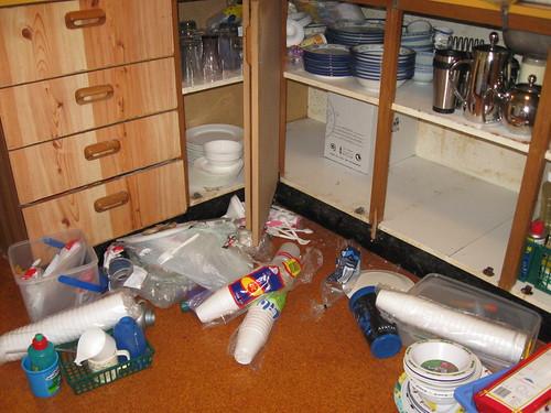 Corner cupboard (half-way through)