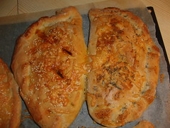 Calzone after