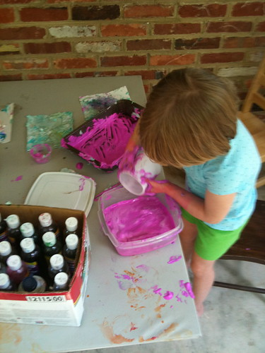 Shaving Cream Painting
