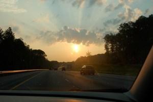 Start of a road trip