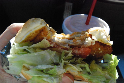 Sonic Fish Sandwich nom