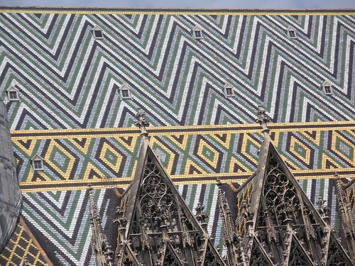 roof tiles of Vienna's cathedral