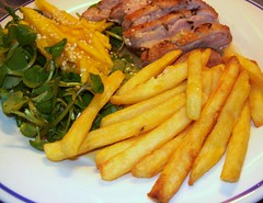 Duck, Watercress, Mango & Chips