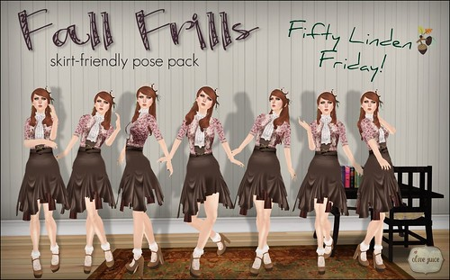 Fall Frills: FLF Ladies Pose Pack!