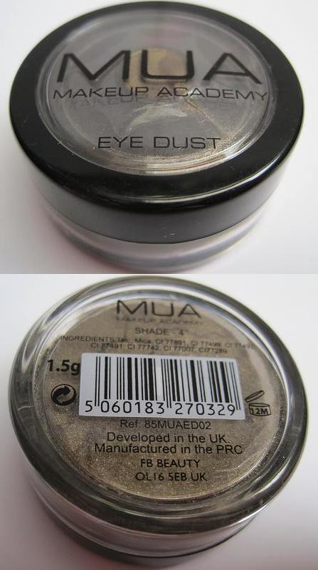 MUA Eye Dust Shade 4-1