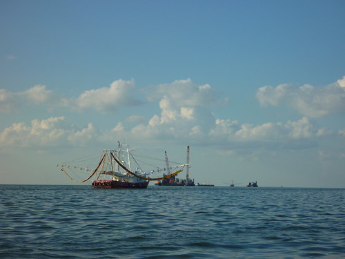 Shrimper cleaner, Bay of Mexico, OIl Spill