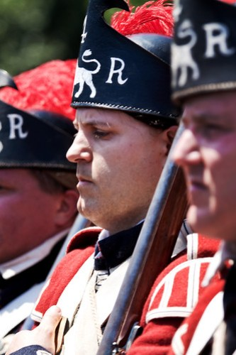 Redcoats in a line