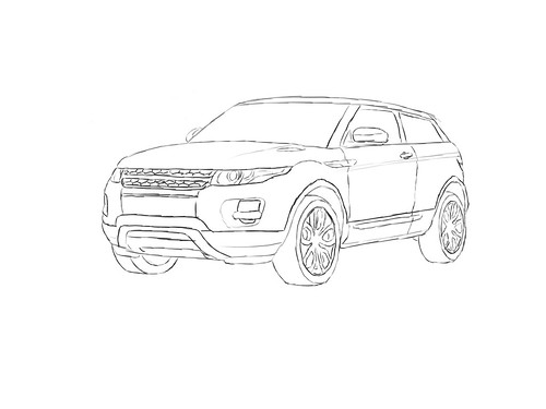 Free coloring pages of rangerover sport