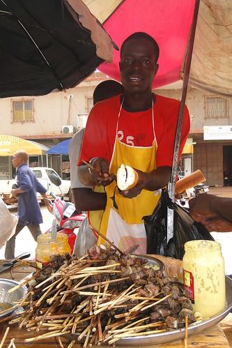 Street vendor, Ouagadougou