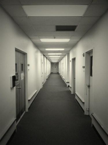 A long hallway...