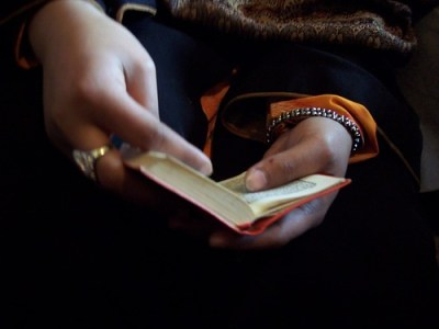 Girl Holding Koran in Kabul