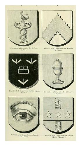 016-Banderas de corporaciones artesanales -Le moyen äge et la renaissance…Vol III-1848- Paul Lacroix y Ferdinand Séré