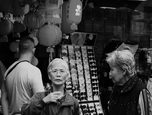 Shoppers in Chinatown