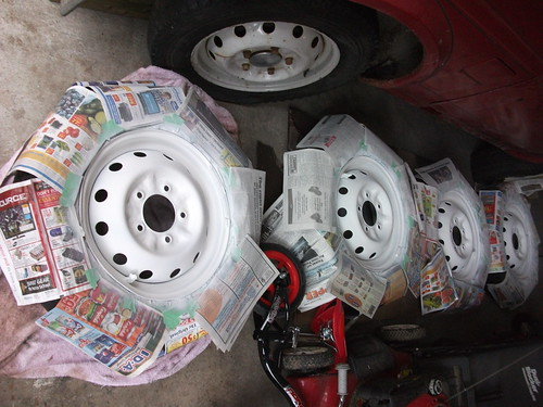 Wheels painted