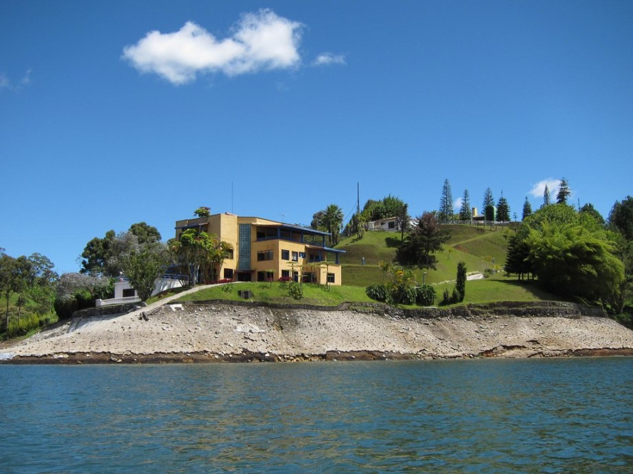 This is the lakeside home Pablo Escobar bought for his mother.