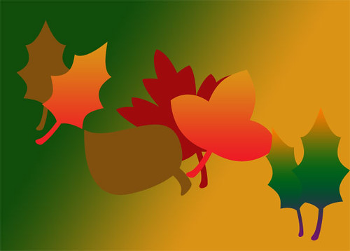 Autumn leaves, done with photoshop