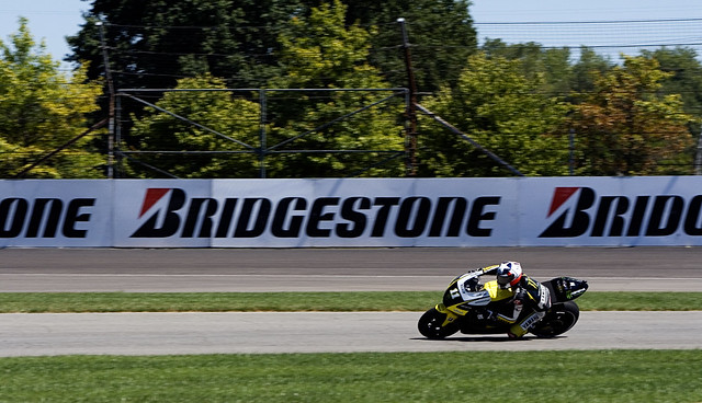 Ben Spies during practice at Indianapolis Motor Speedway on Friday, 8/27/10.